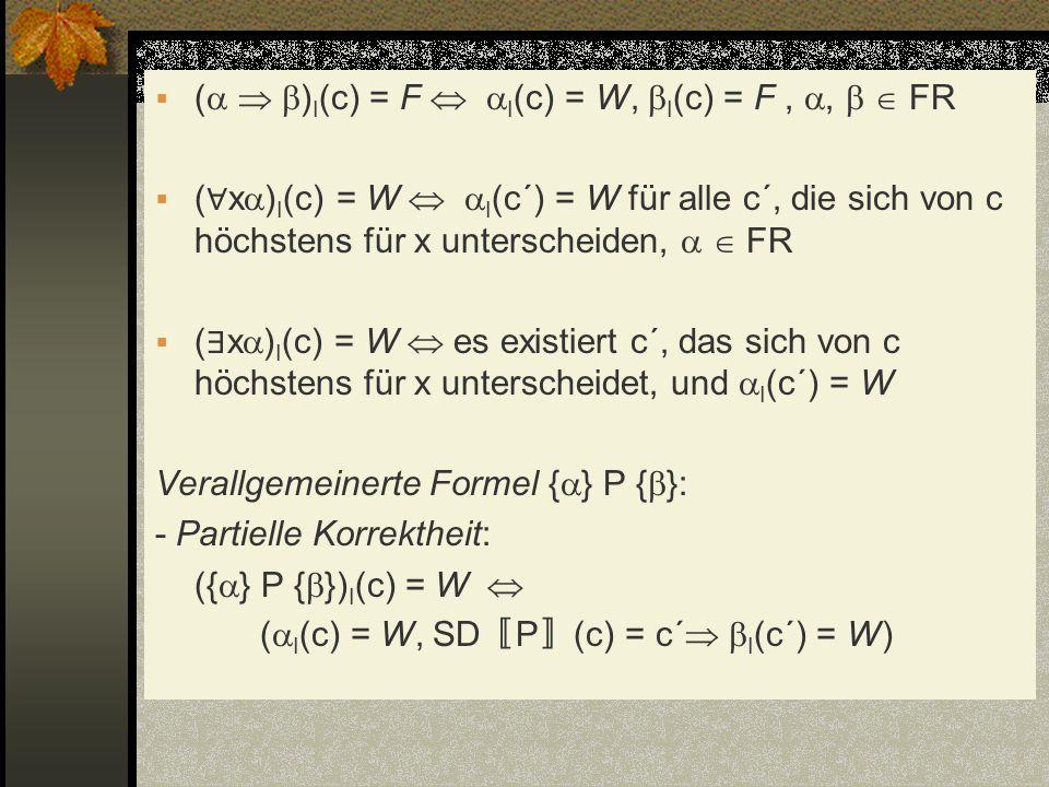 (  )I(c) = F  I(c) = W, I(c) = F , ,   FR