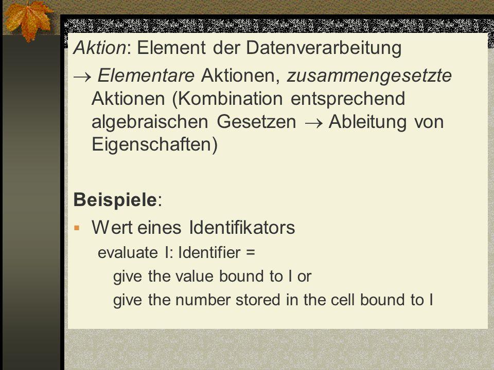 Aktion: Element der Datenverarbeitung