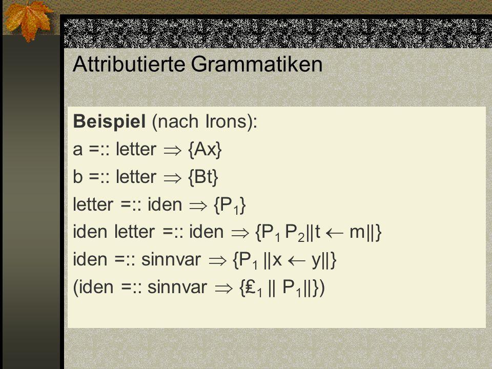Attributierte Grammatiken