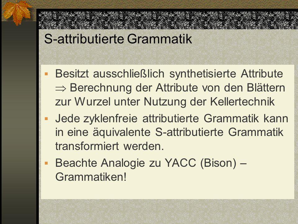 S-attributierte Grammatik