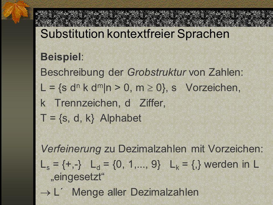 Substitution kontextfreier Sprachen