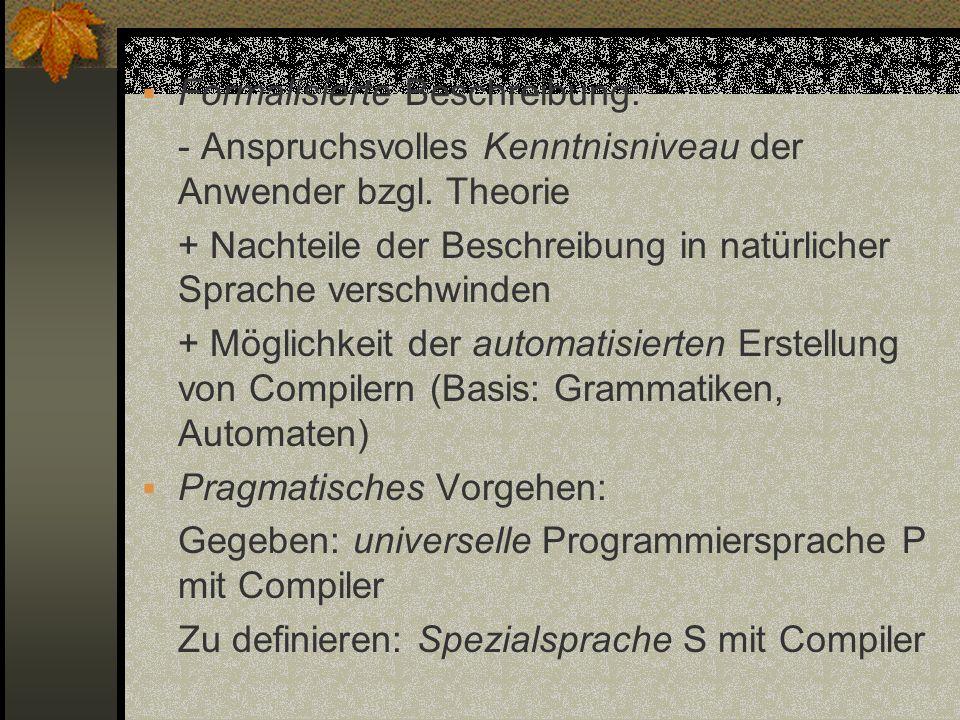 Formalisierte Beschreibung: