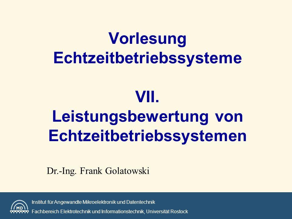 Vorlesung Echtzeitbetriebssysteme VII