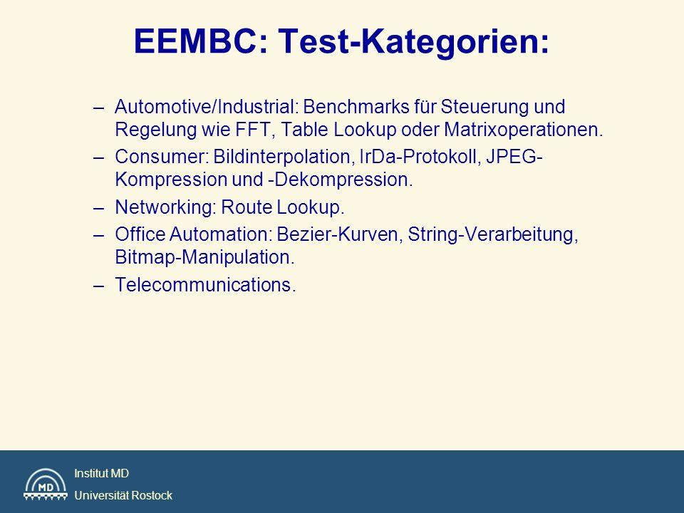 EEMBC: Test-Kategorien: