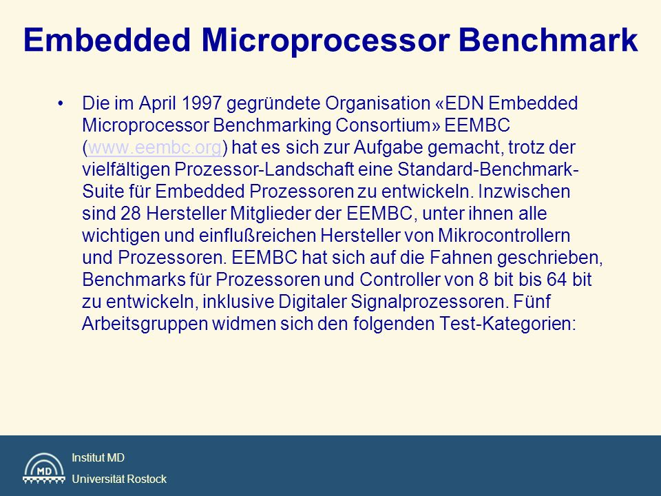 Embedded Microprocessor Benchmark