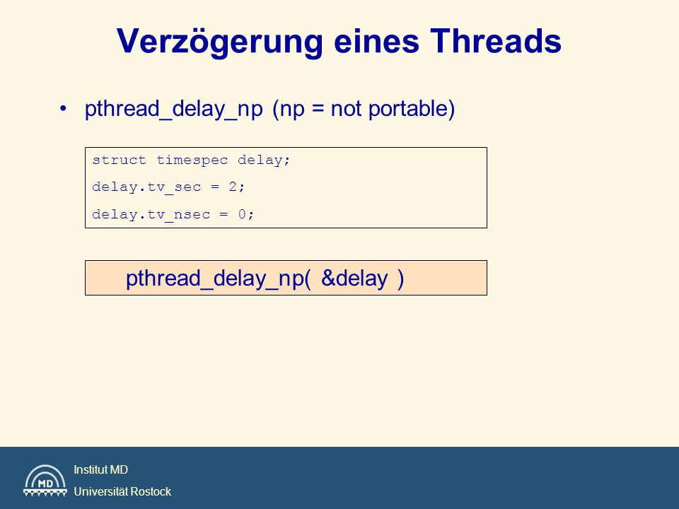 Verzögerung eines Threads