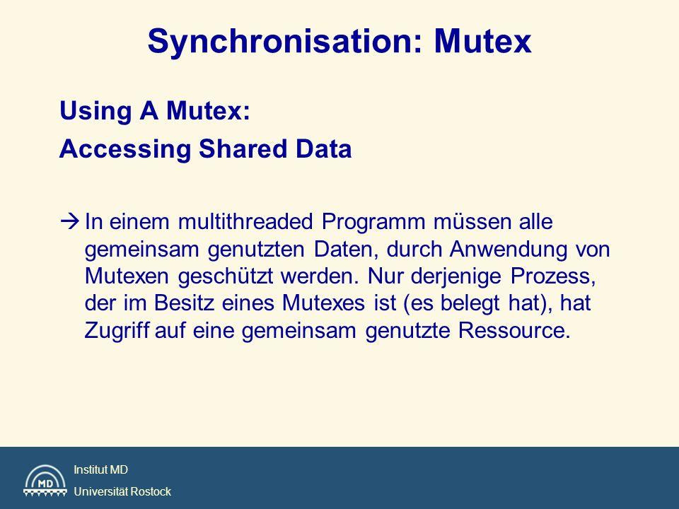 Synchronisation: Mutex