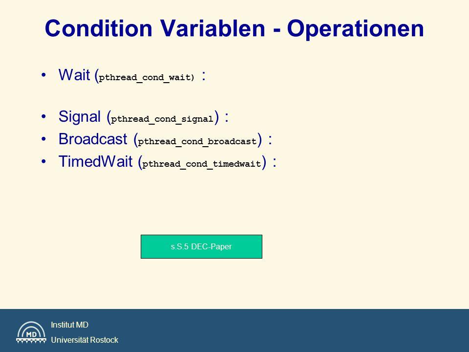 Condition Variablen - Operationen