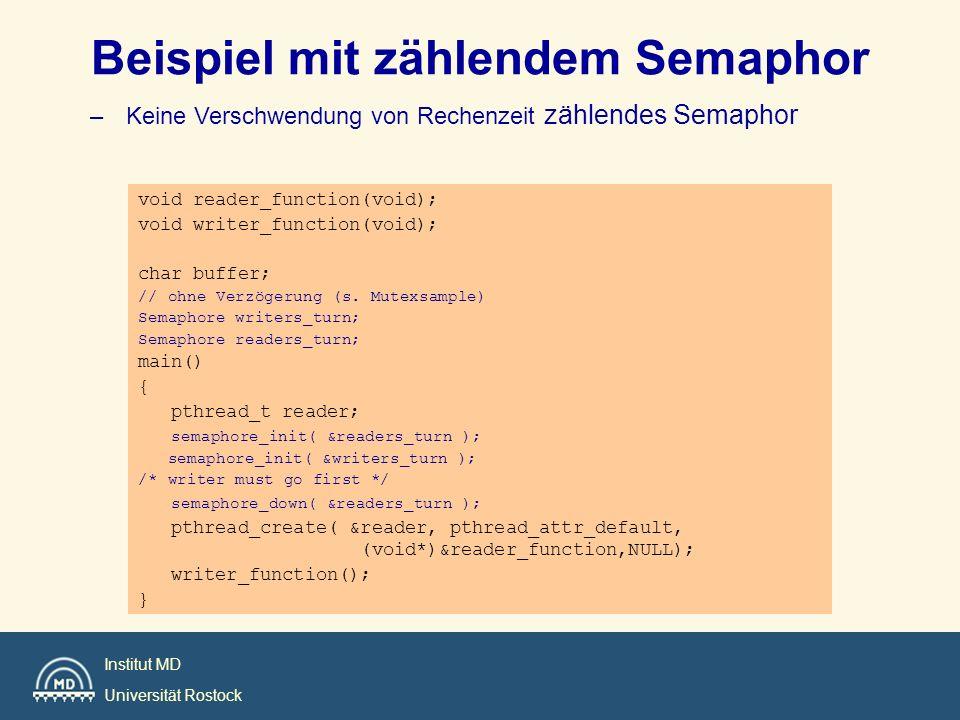 Beispiel mit zählendem Semaphor