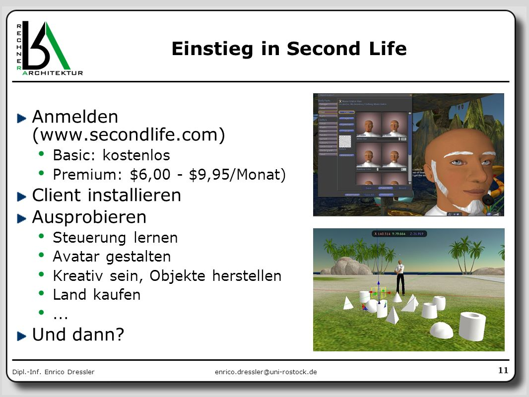 Einstieg in Second Life