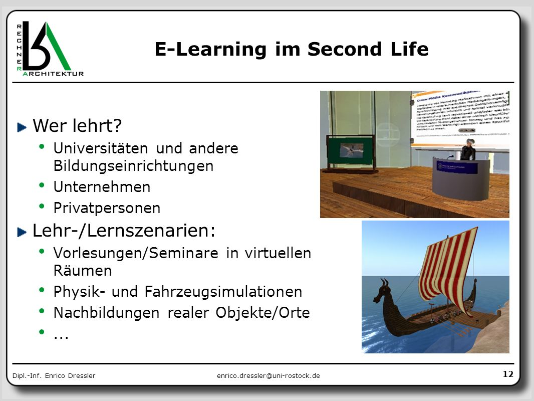 E-Learning im Second Life