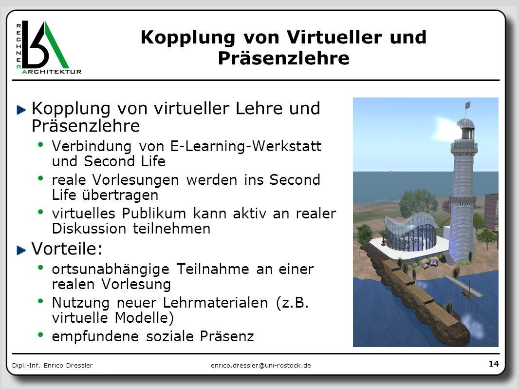 Kopplung von Virtueller und Präsenzlehre