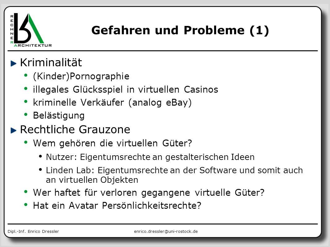 Gefahren und Probleme (1)