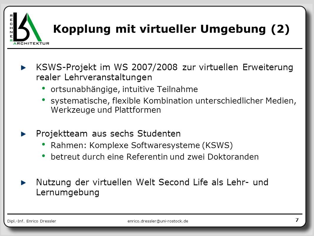 Kopplung mit virtueller Umgebung (2)