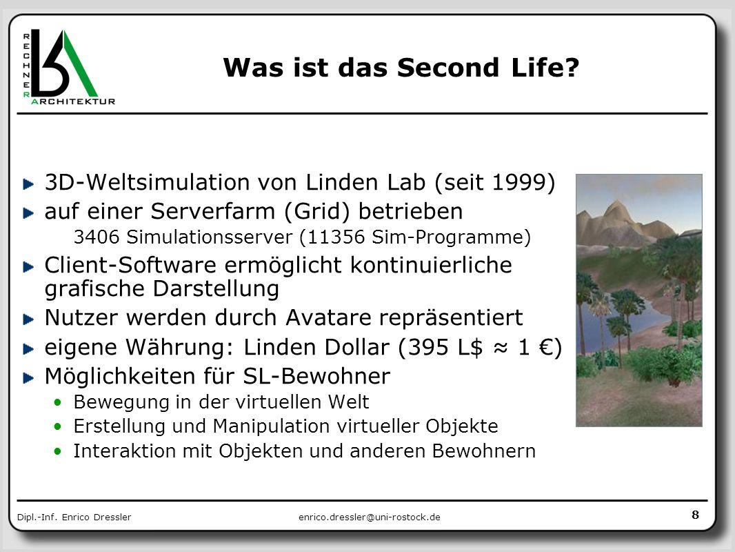 Was ist das Second Life 3D-Weltsimulation von Linden Lab (seit 1999)