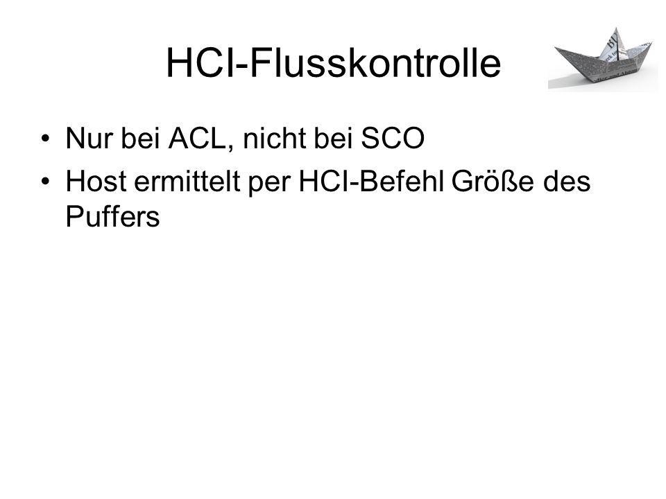 HCI-Flusskontrolle Nur bei ACL, nicht bei SCO
