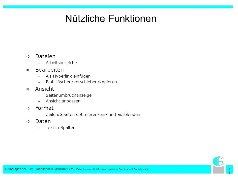 Nützliche Funktionen Dateien Bearbeiten Ansicht Format Daten
