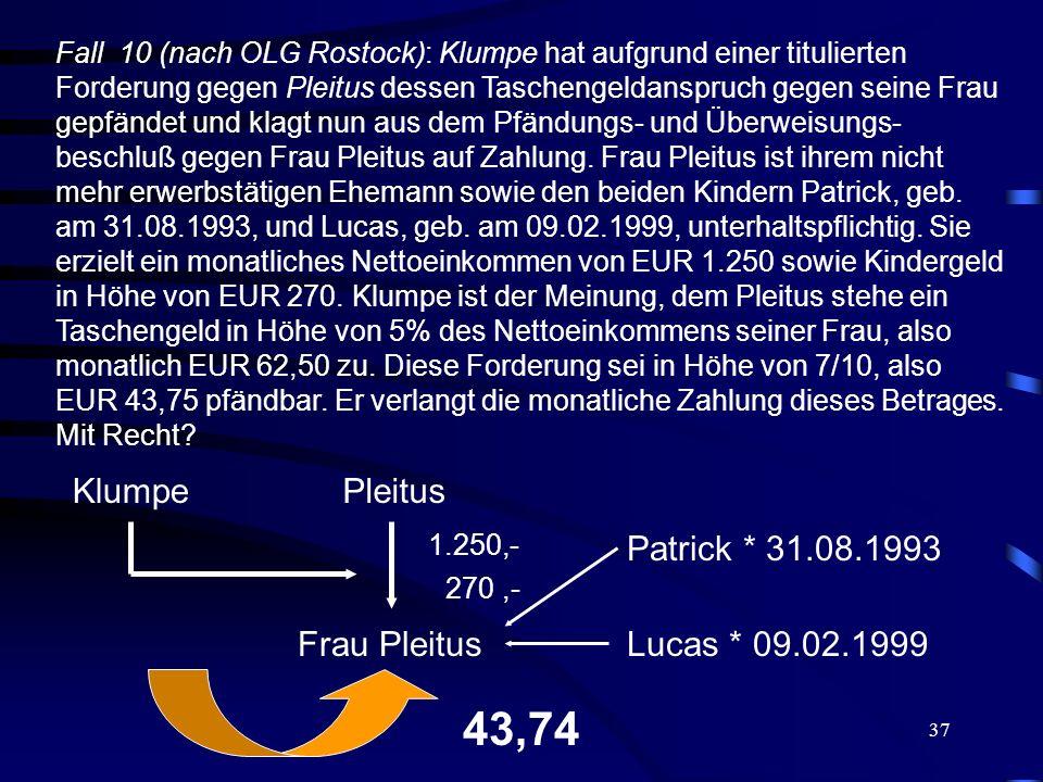 43,74 Klumpe Pleitus Patrick * 31.08.1993 Frau Pleitus