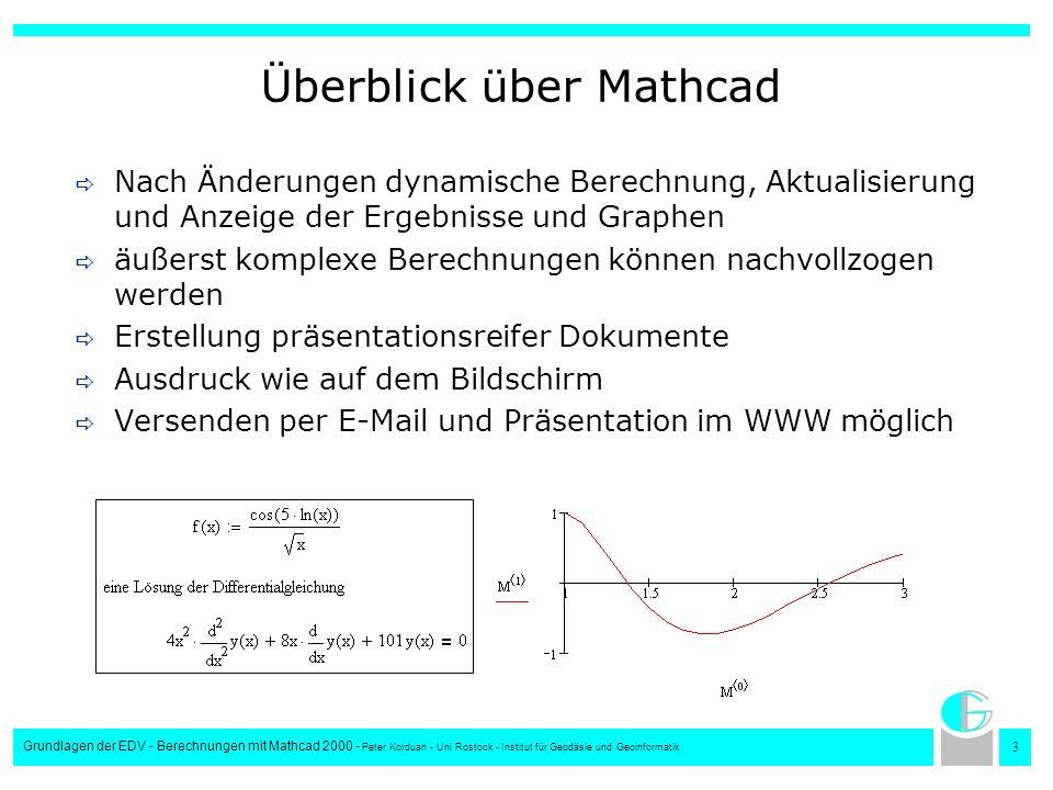 Überblick über Mathcad