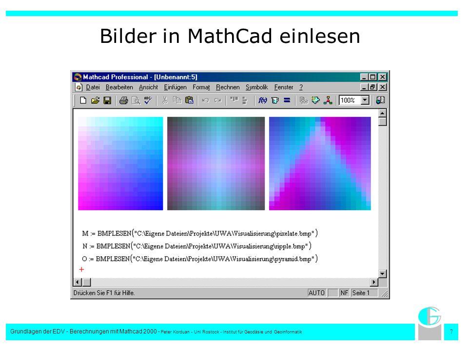 Bilder in MathCad einlesen