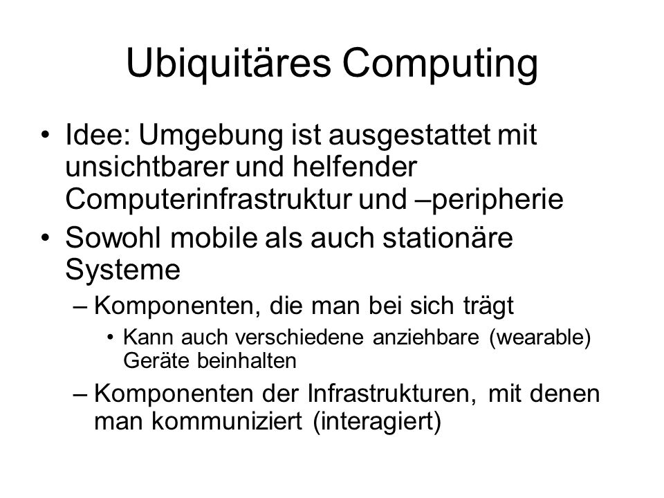 Ubiquitäres Computing