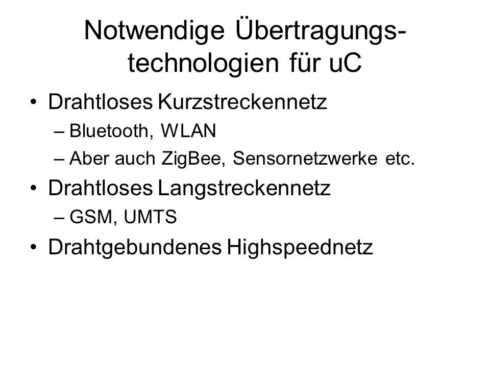 Notwendige Übertragungs-technologien für uC