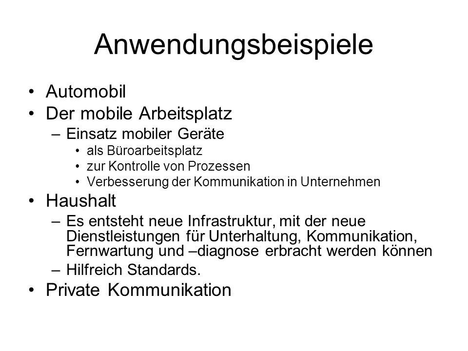 Anwendungsbeispiele Automobil Der mobile Arbeitsplatz Haushalt