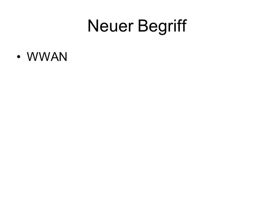 Neuer Begriff WWAN