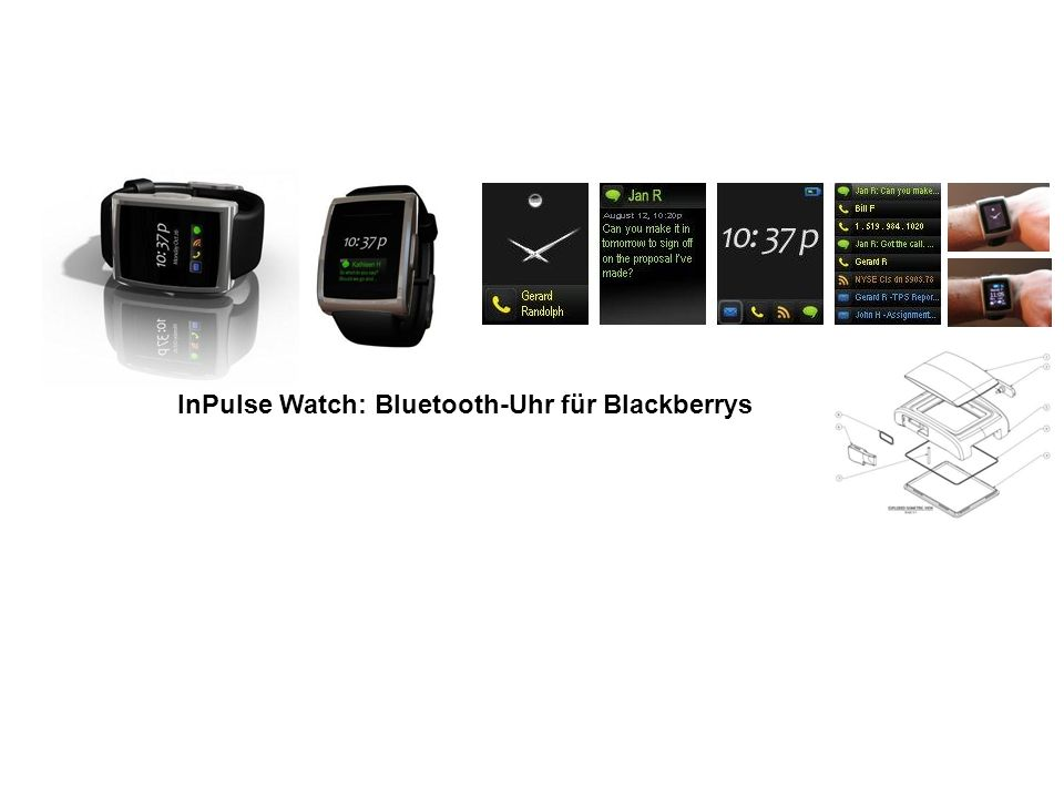 InPulse Watch: Bluetooth-Uhr für Blackberrys