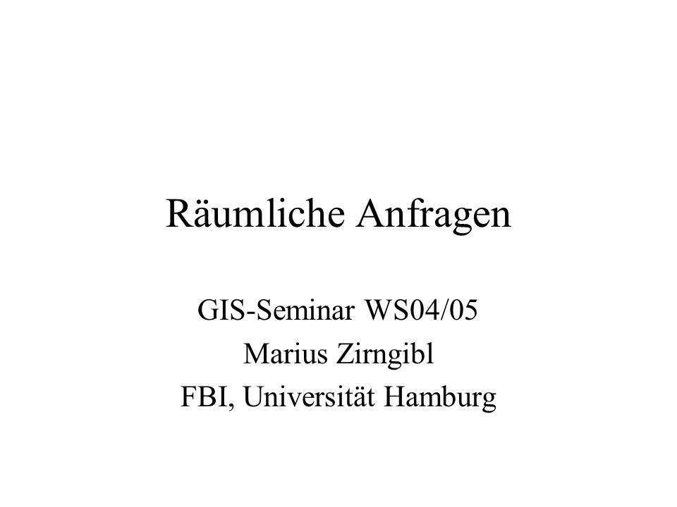 GIS-Seminar WS04/05 Marius Zirngibl FBI, Universität Hamburg