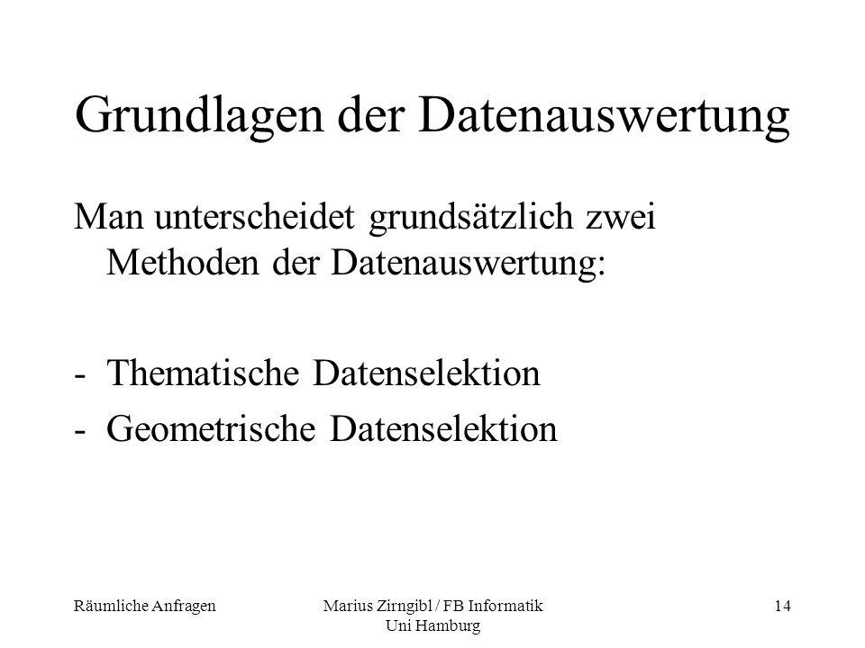 Grundlagen der Datenauswertung