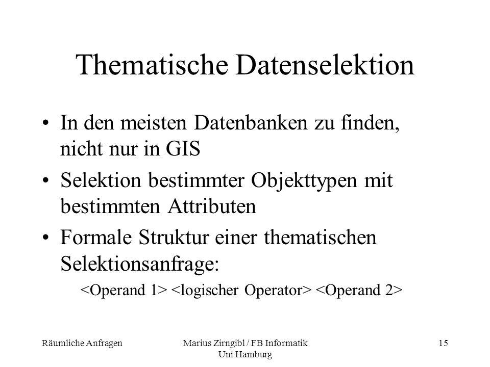 Thematische Datenselektion