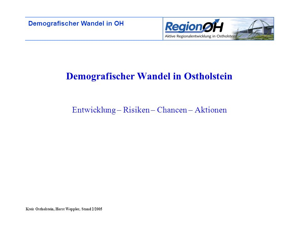Demografischer Wandel in Ostholstein