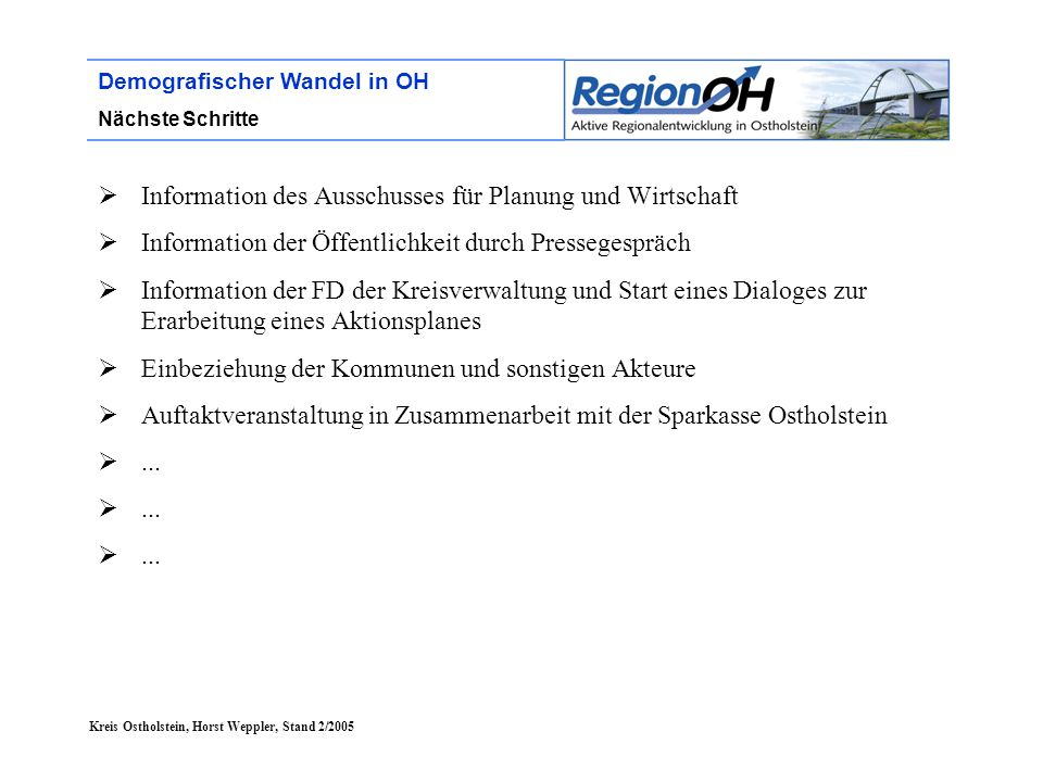 Information des Ausschusses für Planung und Wirtschaft