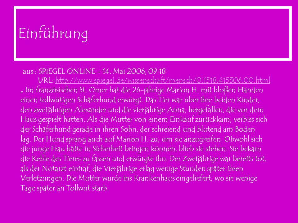 Einführung aus : SPIEGEL ONLINE - 14. Mai 2006, 09:18 URL: http://www.spiegel.de/wissenschaft/mensch/0,1518,415306,00.html.
