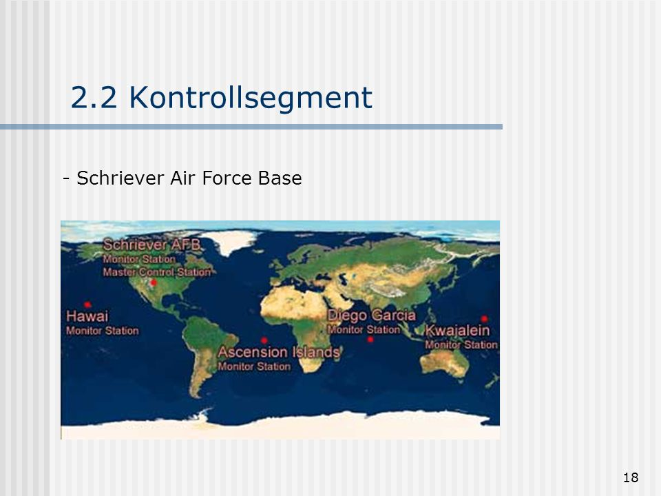2.2 Kontrollsegment Schriever Air Force Base