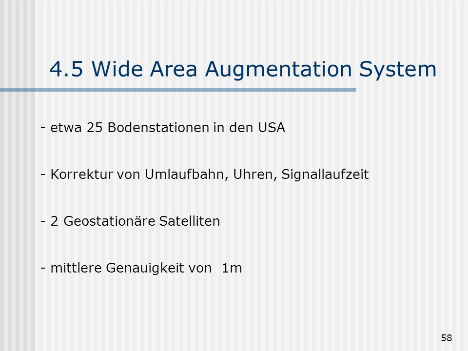 4.5 Wide Area Augmentation System