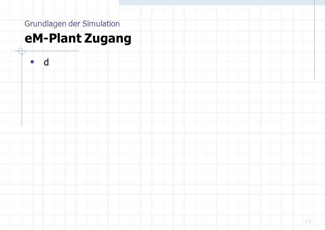 Grundlagen der Simulation eM-Plant Zugang