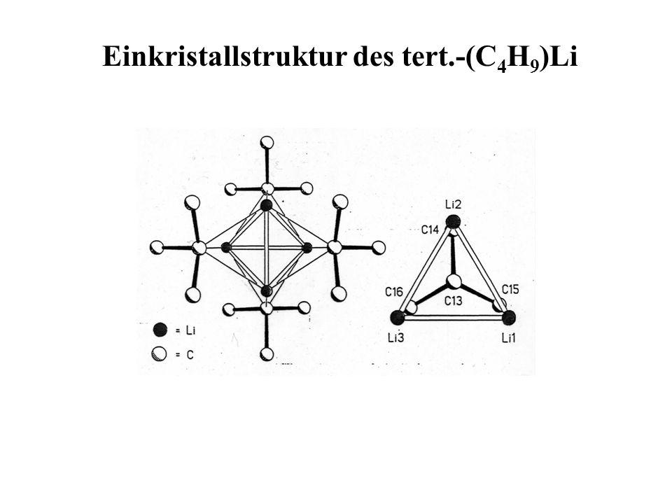 Einkristallstruktur des tert.-(C4H9)Li