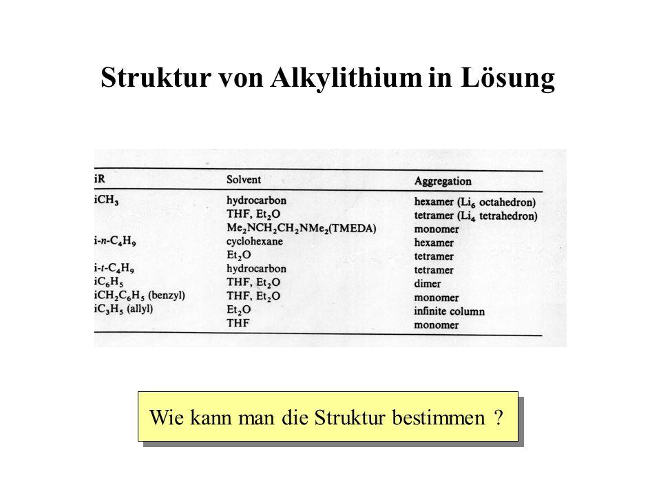 Struktur von Alkylithium in Lösung