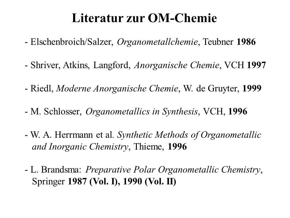 Literatur zur OM-Chemie