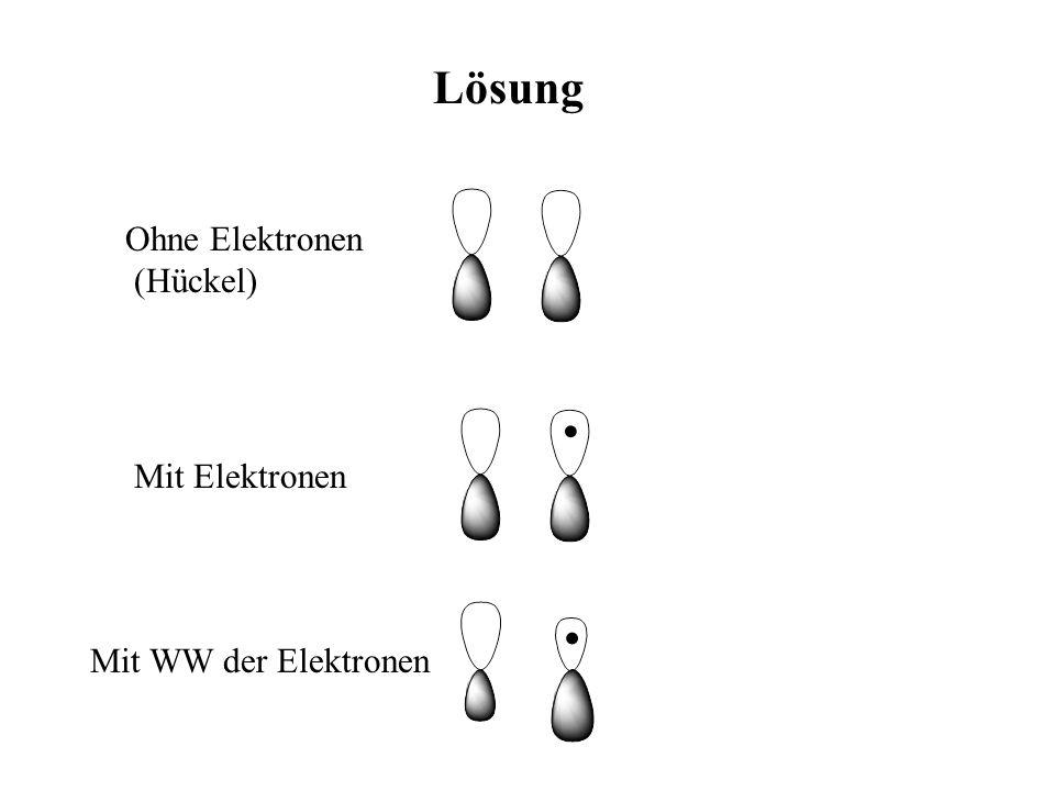 Lösung Ohne Elektronen (Hückel) Mit Elektronen Mit WW der Elektronen
