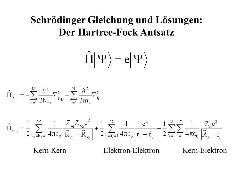 Schrödinger Gleichung und Lösungen: Der Hartree-Fock Antsatz