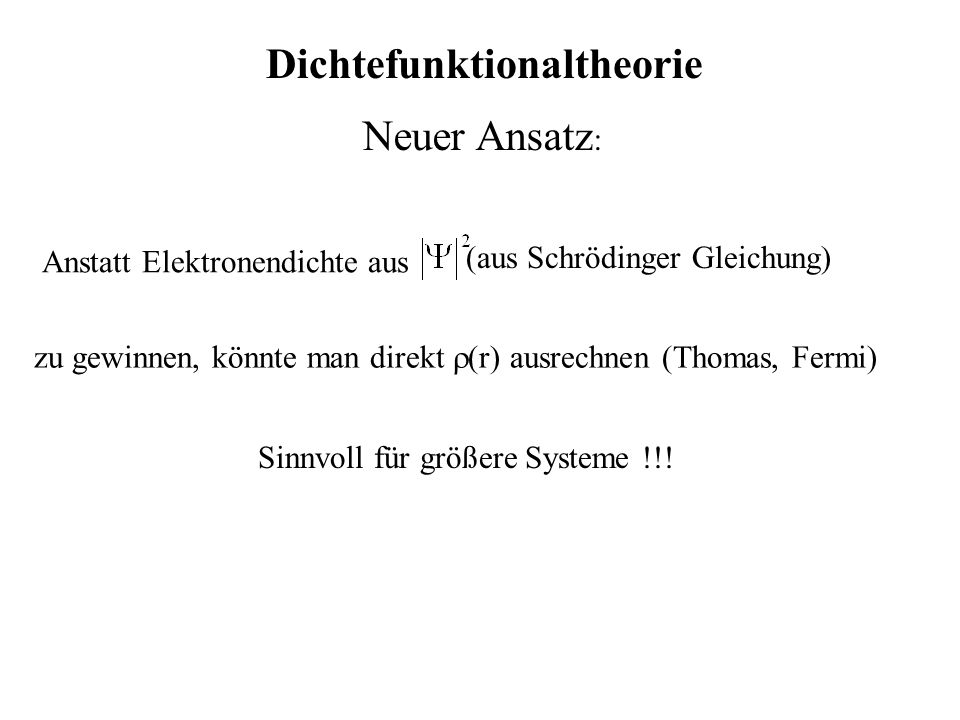 Dichtefunktionaltheorie
