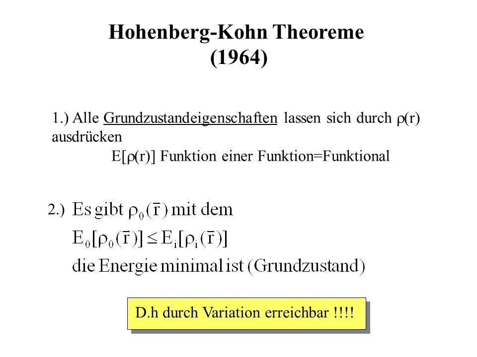 Hohenberg-Kohn Theoreme