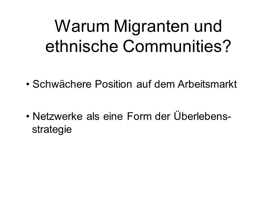 Warum Migranten und ethnische Communities