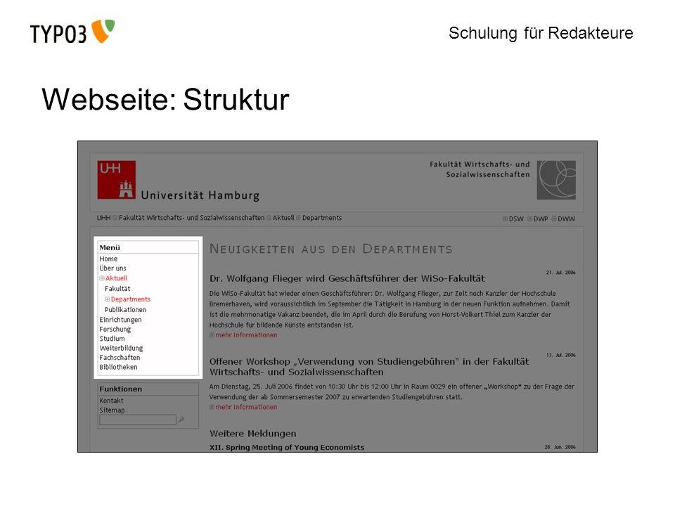 Webseite: Struktur