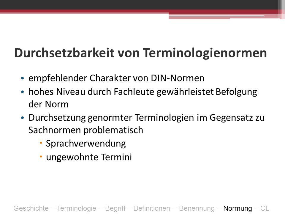 Durchsetzbarkeit von Terminologienormen
