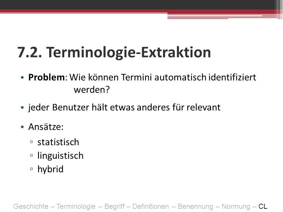 7.2. Terminologie-Extraktion