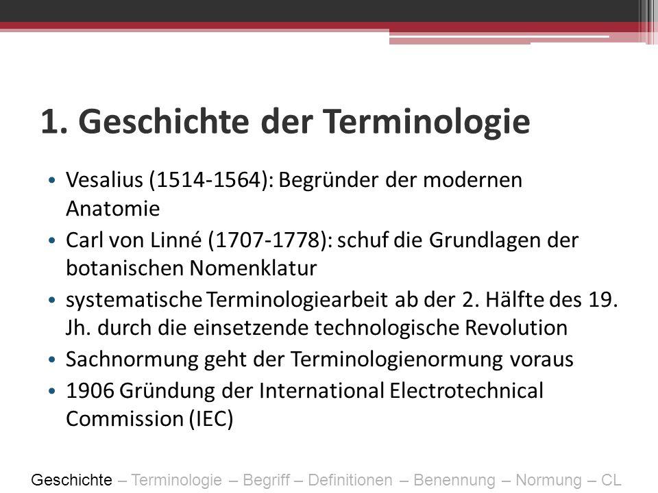 1. Geschichte der Terminologie